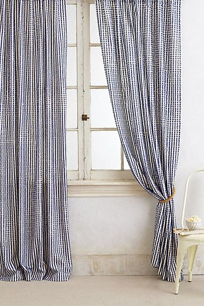 Fringed Toulon Curtain Cortinas, Textiles y Varios - cortinas azules