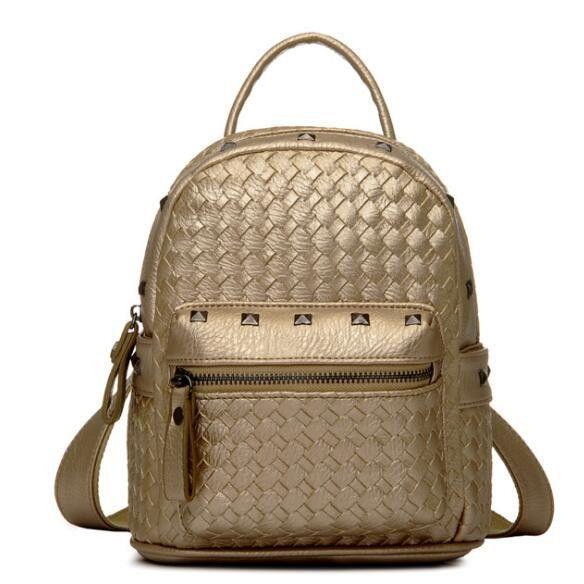 199df1fc73 Women Backpack Pu Leather Mini Style Backpack Female Travel Bag Teenage  Girls Female School Shoulder Bag Backpack mochila A15