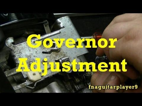 How To Adjust Mechanical Governor On Small Engines Youtube Small Engine Engineering Lawn Mower Repair