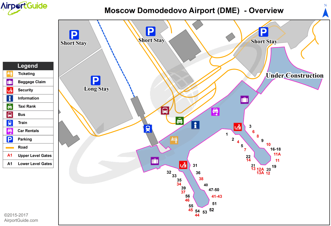 moscow - domodedovo international (dme) airport terminal