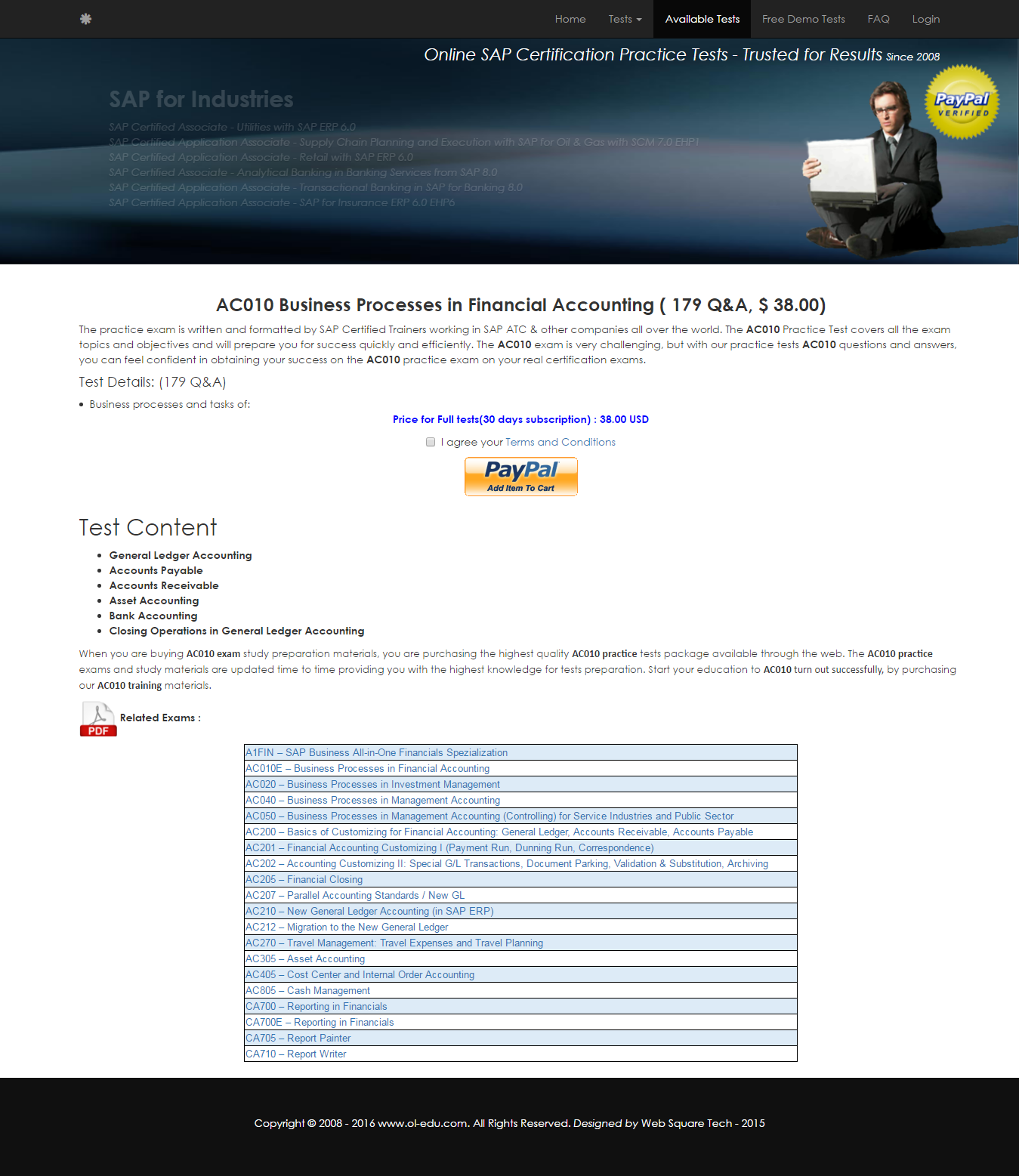 Questions and Answers for AC010 - Business Processes in
