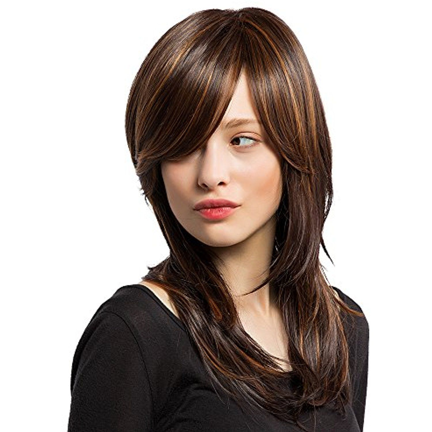 Panda Hair Long Layered Ombre Color Synthetic Wig for