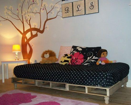 habitación para niños con palets | niños | pinterest | habitacion