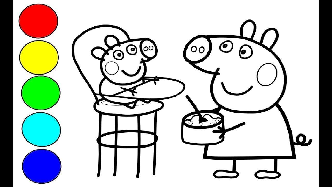 peppa wutz malen - vorlagen zum ausmalen gratis ausdrucken