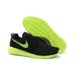Billige Nike Roshe Run Læder Sort Grøn Herre Skobutik | Købe Nike Roshe Run Læder Skobutik | Nike Skobutik Billige | denmarksko.com