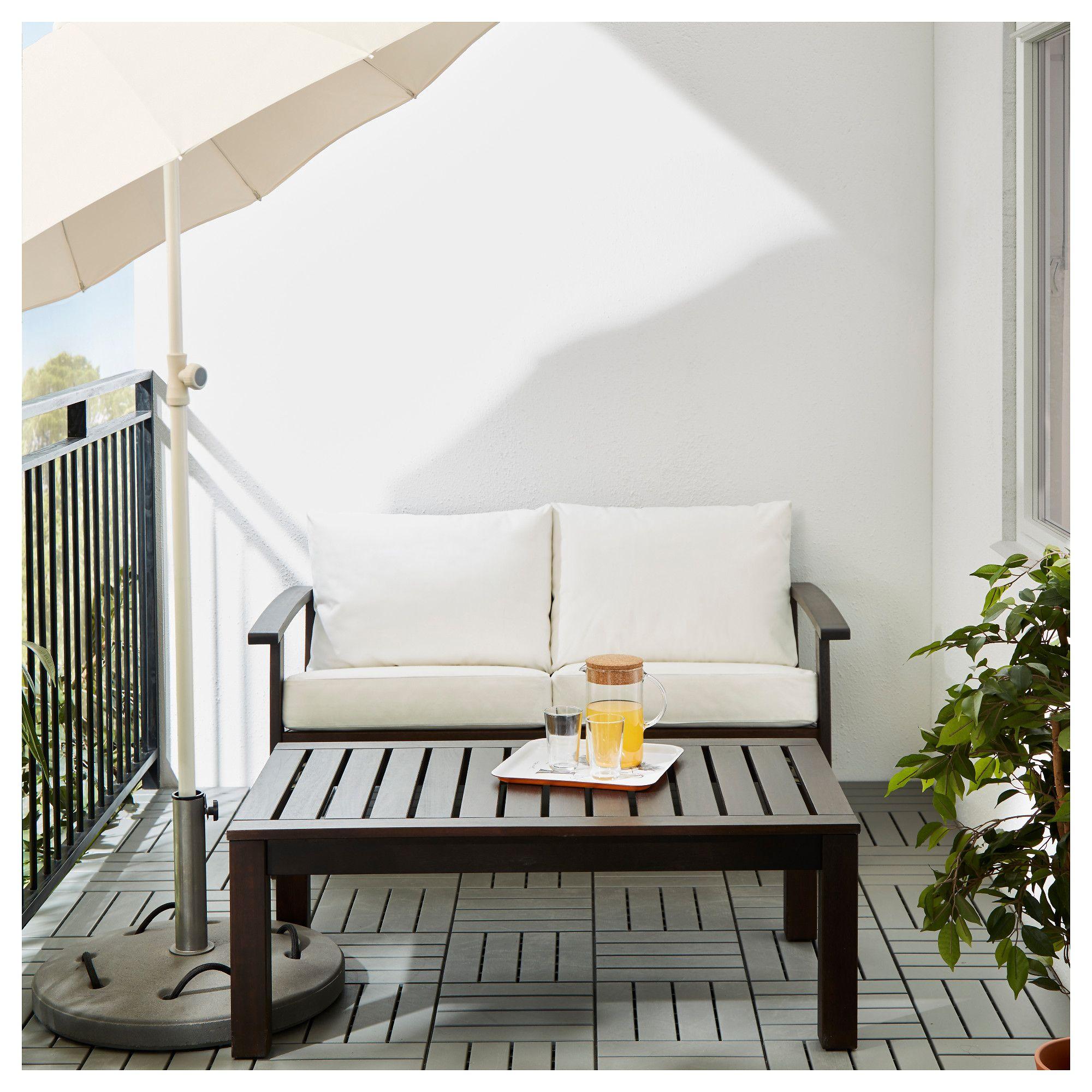 Ikea klöven loveseat outdoor brown stained white kungsö