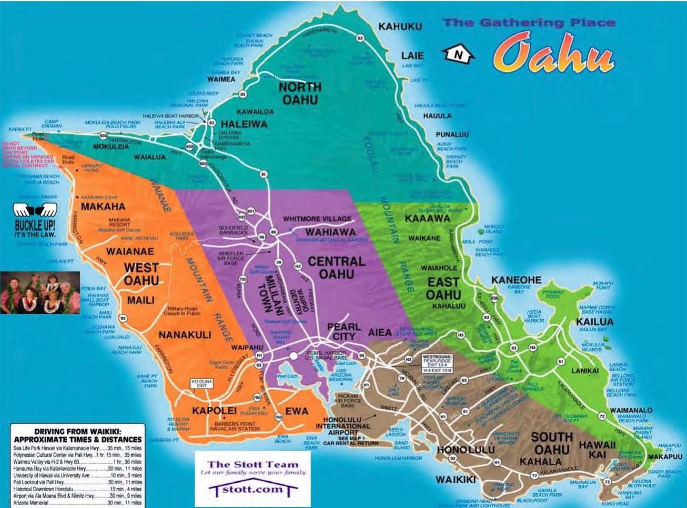 Oahu Hawaii – Tourist Map Of Oahu