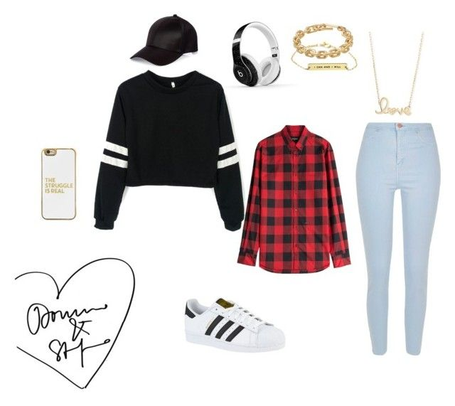"""""""Untitled #5"""" by fashionfever204 on Polyvore featuring River Island, Beats by Dr. Dre, BaubleBar, adidas, Calvin Klein, Sydney Evan and Dsquared2"""