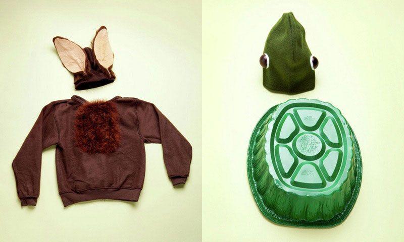 disfraz Carnaval lobo y tortuga