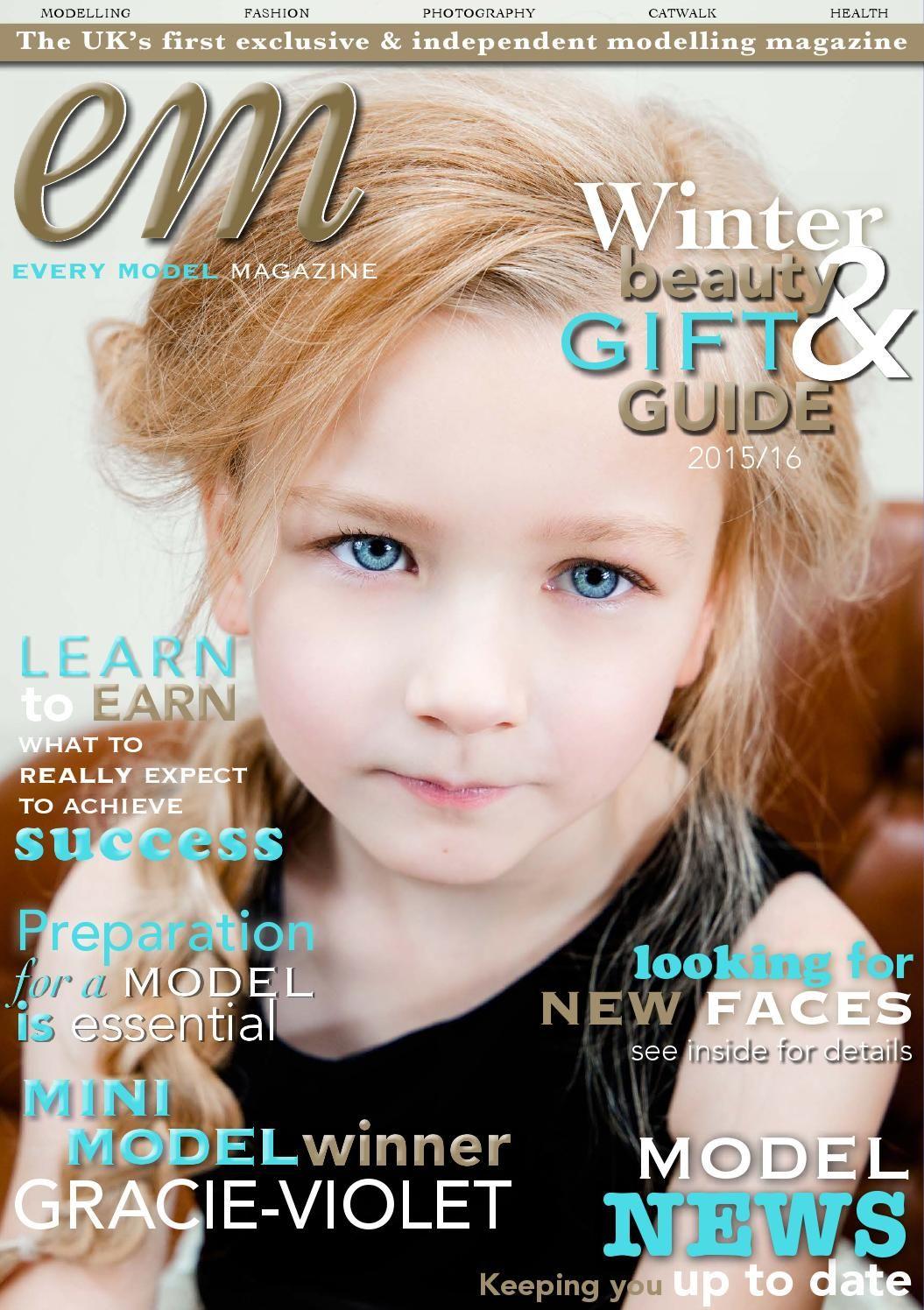 EM Magazine Winter 2015 edition Model magazine, Winter