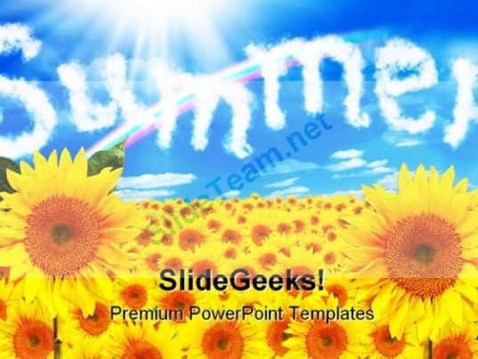 Sunflower Summer Nature PowerPoint Backgrounds And Templates 12101