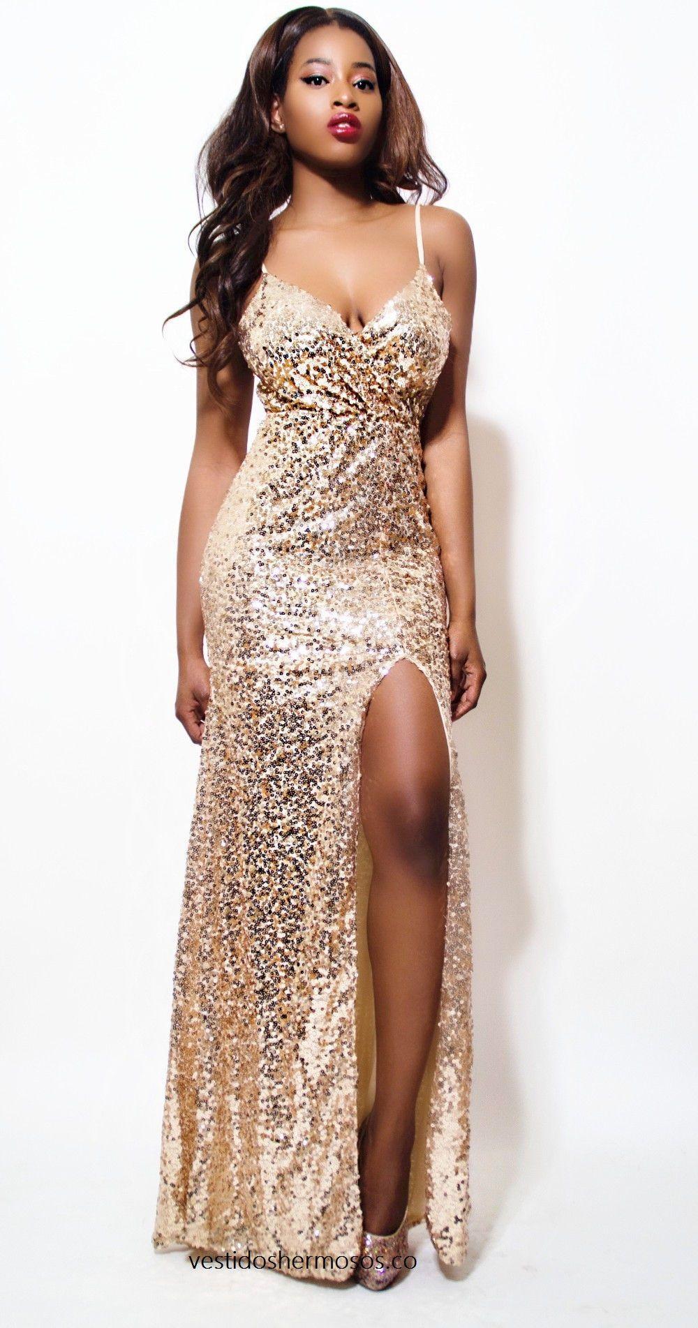 Luxury shining gold sequin maxi long dress elegant evening paillette