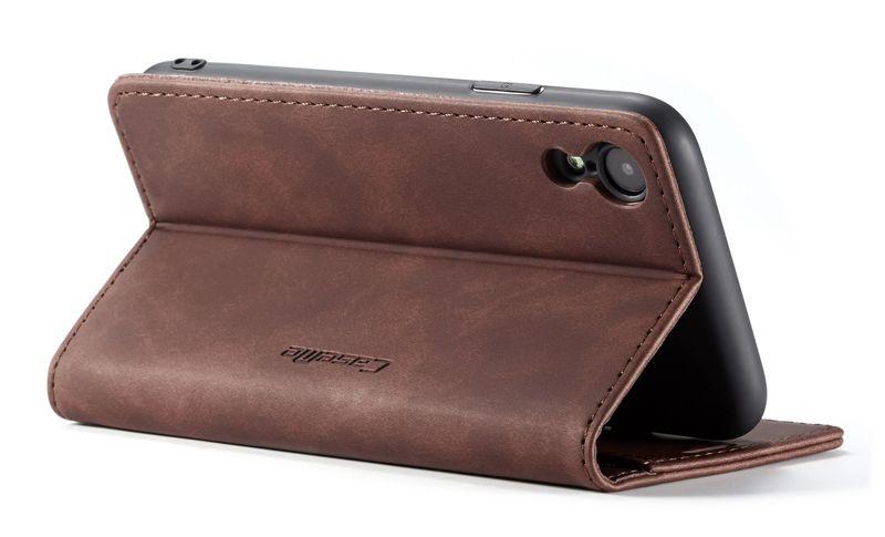 Caseme iphone xr antifall retro leather wallet case