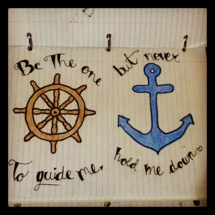 My Drawing Anchor Love Quote Love And More Pinterest