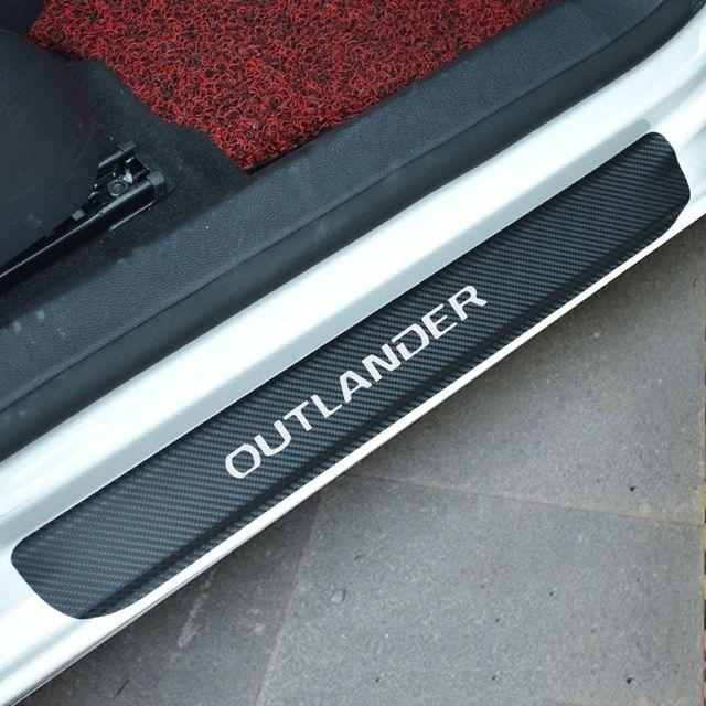 4 Pcs Car Accessories 4D Carbon Fiber Door Sill Scuff Protector Stickers /& Tool