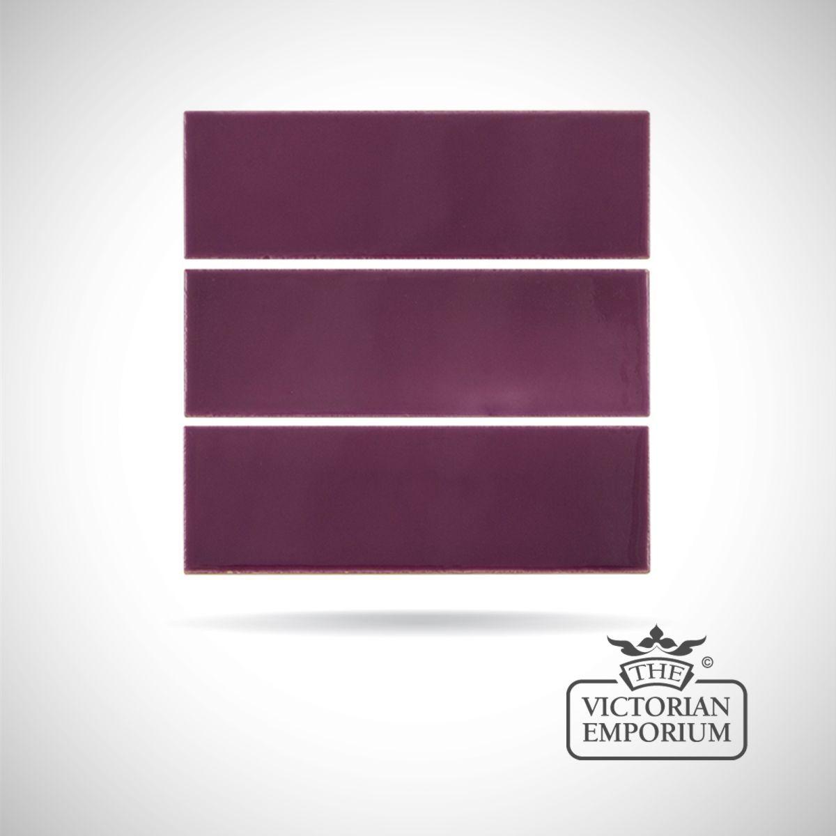 Buy Deep Violet fireplace spacer tiles, Fireplace tiles - Deeply coloured fireplace spacer tiles in Violet