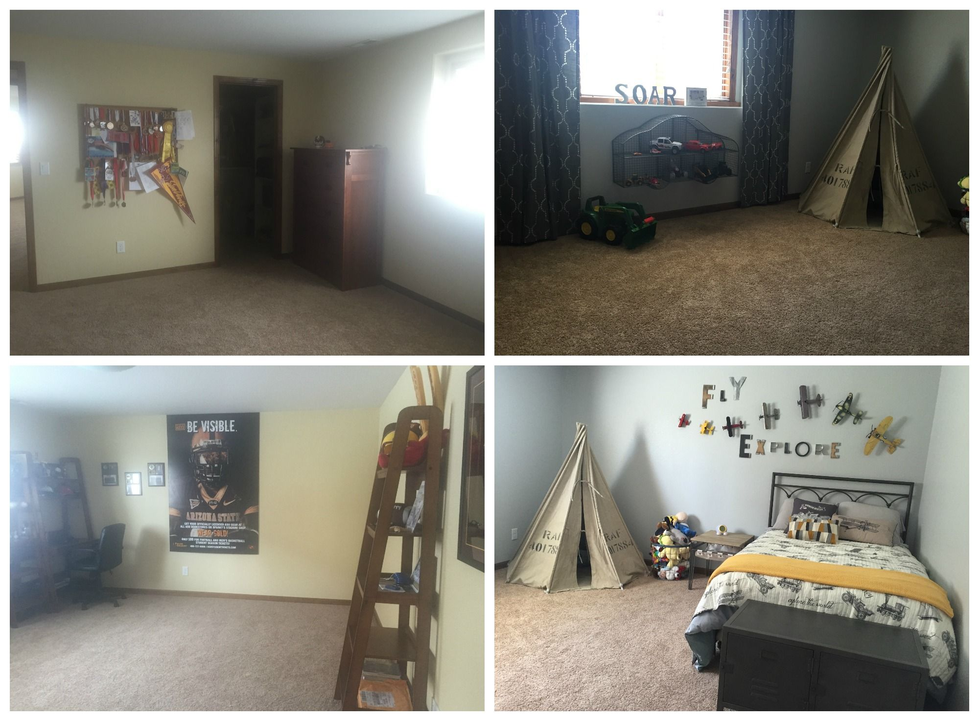Boyu0027s Room Before And After (Soul Interiors, Bismarck, ND)