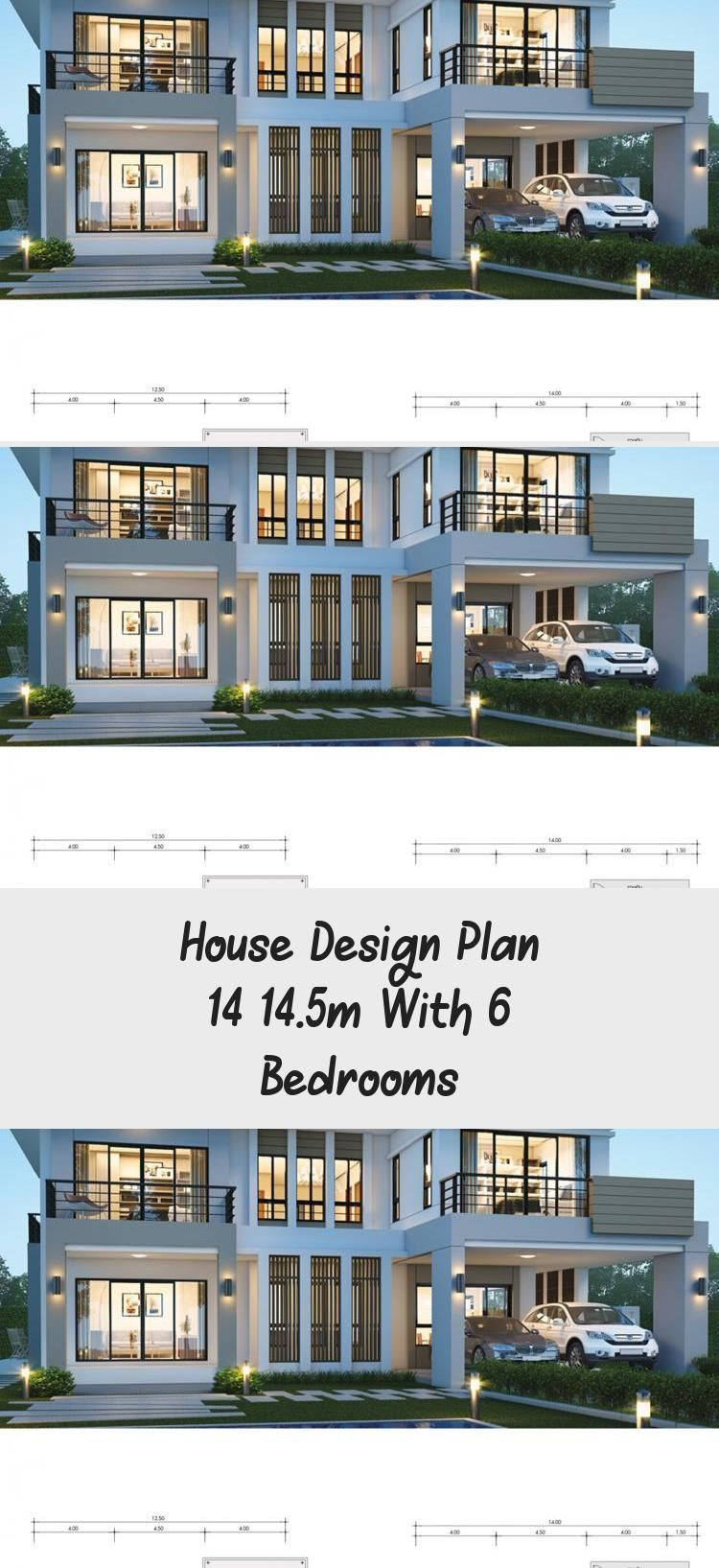 House Design Plan 14x14 5m With 6 Bedrooms Home Design With Plansearch Lakehouseplans Houseplansdesig In 2020 Home Design Plans Square House Plans Pool House Plans