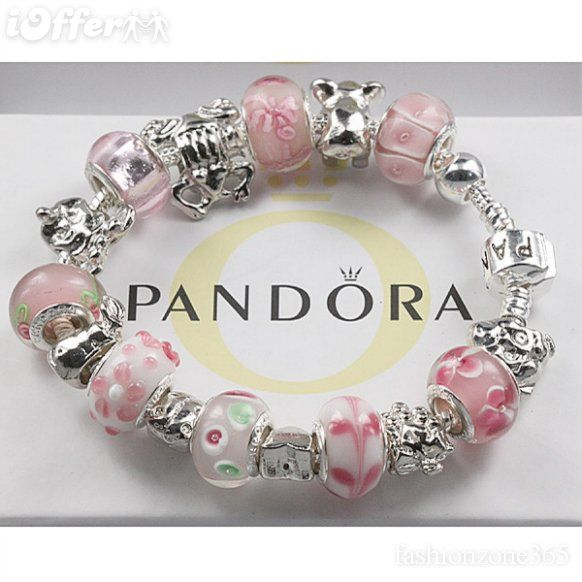 Jewelry Box For Pandora Charms: Light Pink Pandora Bracelet