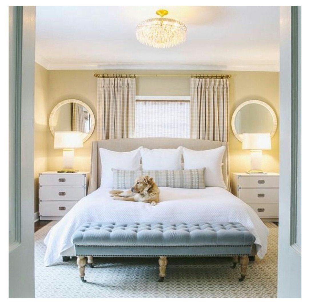 50 Ideas For Placing A Bed In Front Of A Window Small Master Bedroom Remodel Bedroom Master Bedrooms Decor