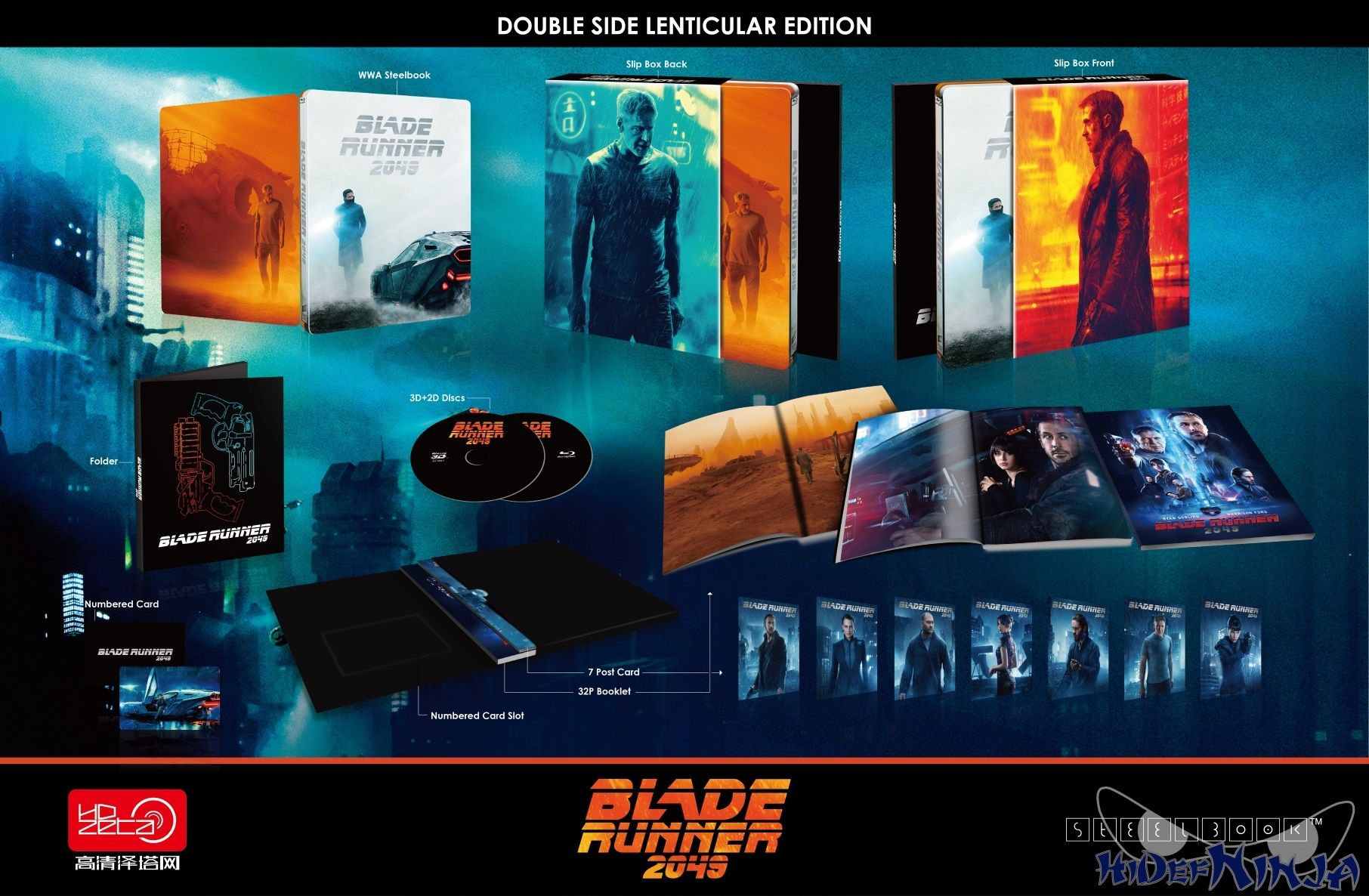 Blade Runner 2049 3d Double Lenticular Edition Blu Ray Steelbook Hdzeta Special Edition Silver Label China Film Art