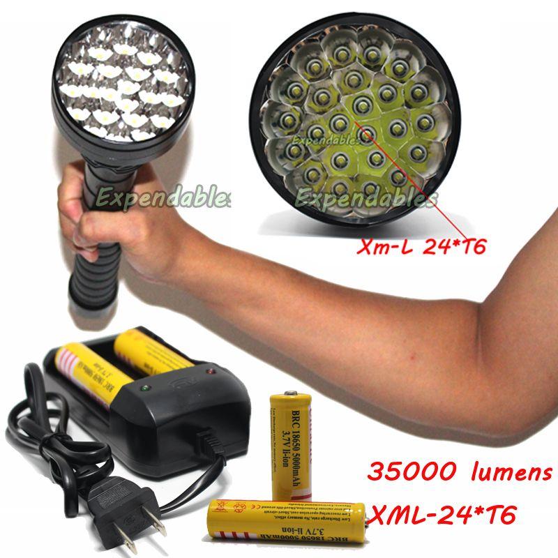 35000 Lumens High Led Flashlight