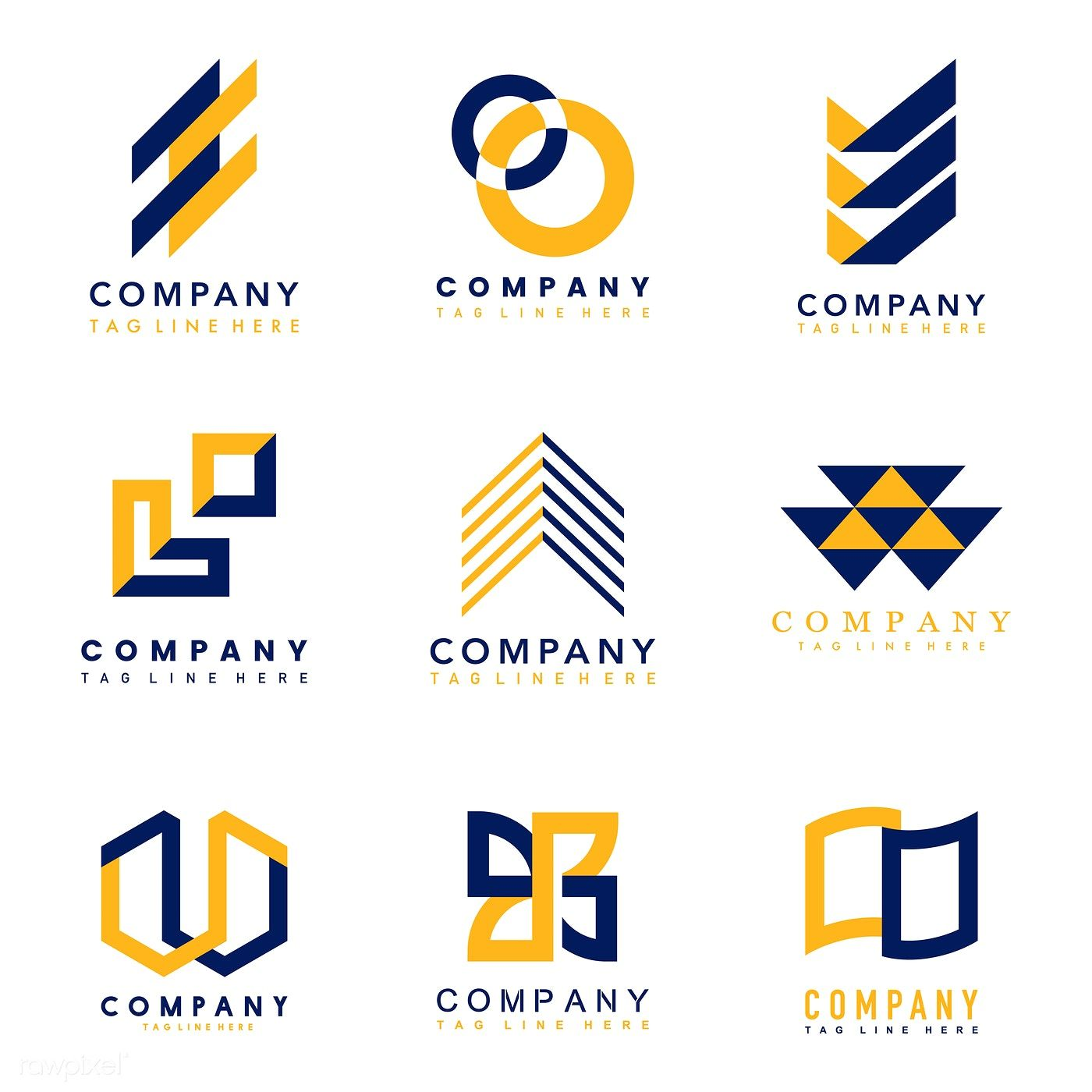 Download premium vector of Set of company logo design