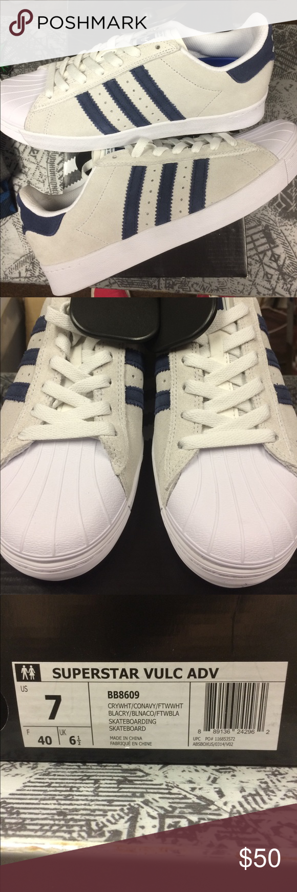 Adidas shell la superstar nwt marina strisce adidas e shell