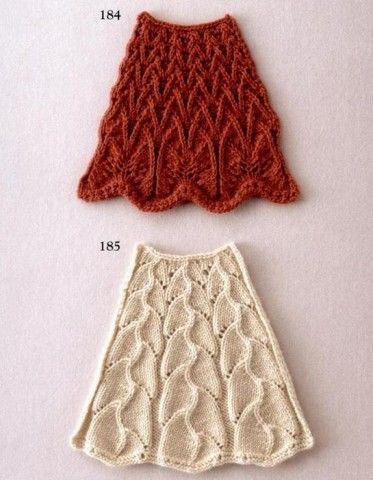 узоры с расширением вязаные по кругу спицами Crochet Skirts