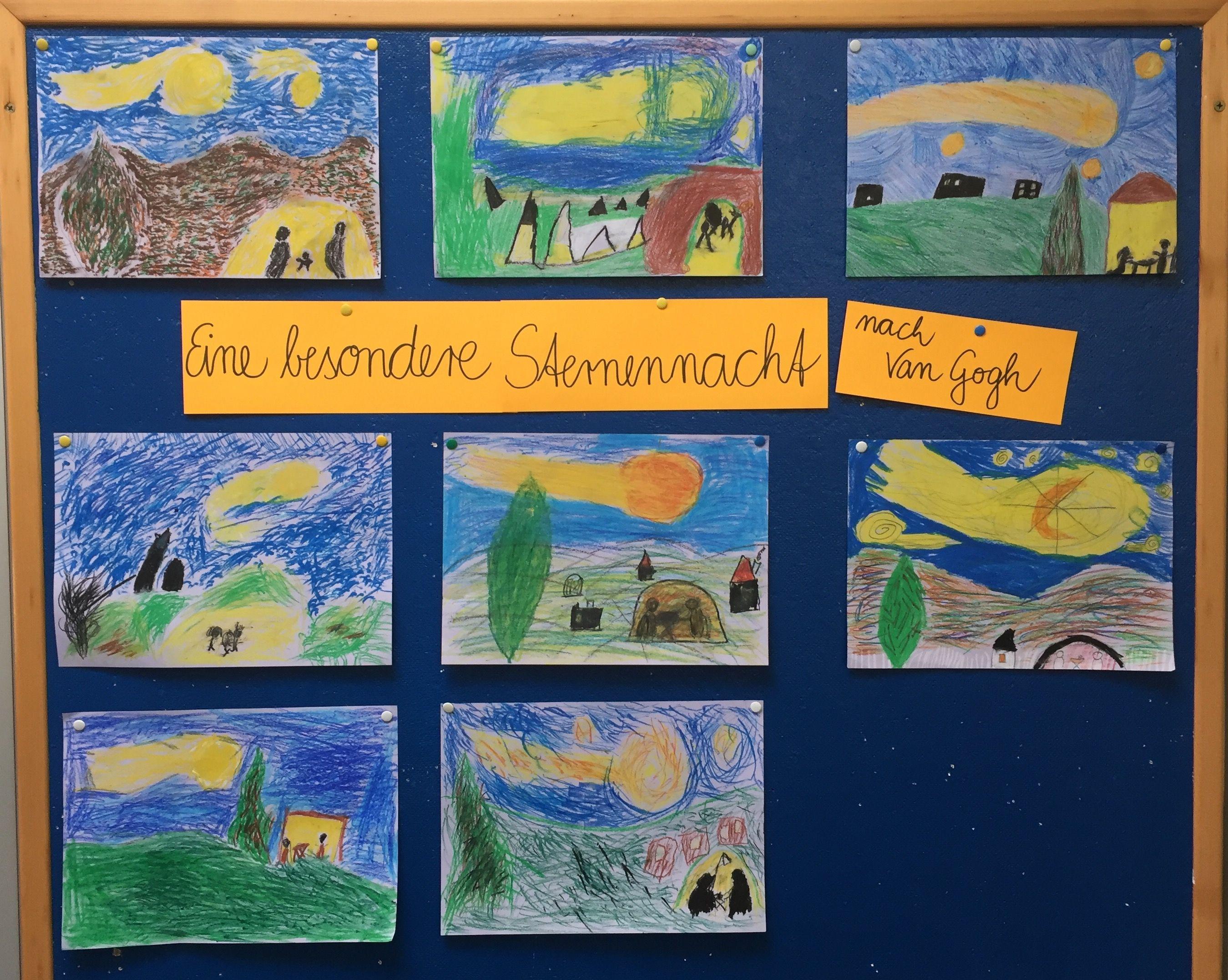 Kunstunterricht Grundschule Van Gogh Sternennacht