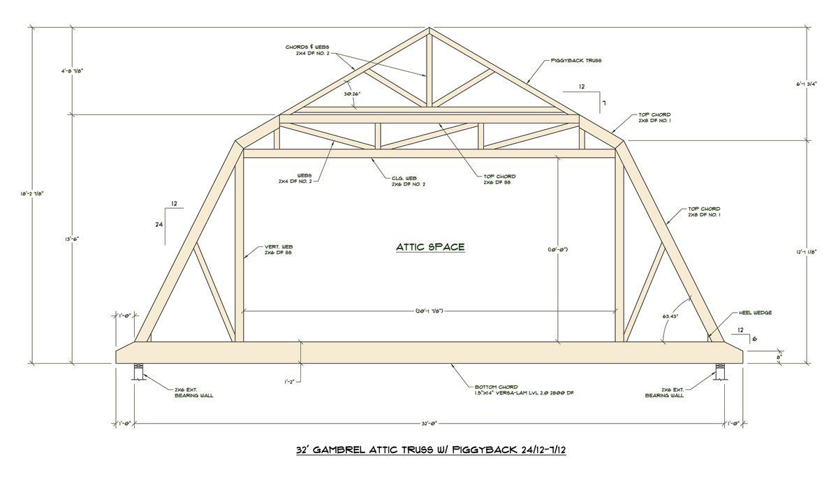 Click Here For Pdf File Of Truss Design Attic Truss Roof Truss Design Roof Trusses