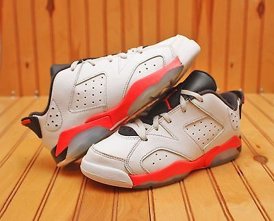 ca6ead15e7aabe Nike Air Jordan 6 VI Retro Low Size 1.5Y - White Infrared Black - 768882 123