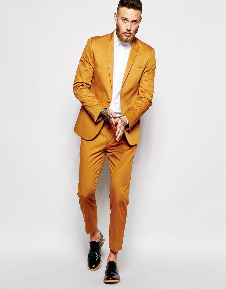 Latest coat pant designs yellow men wedding suits tuxedo terno slim