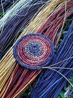 My Pandanus Coli Weaving Made From Pandanus Sourced From Mapuru Nt Australia Raffia Crafts Basket Weaving Diy Basket Weaving