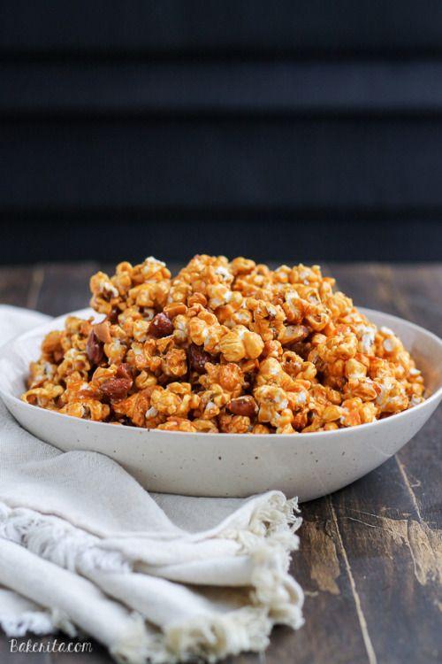 Really nice recipes. Every hour. • Salted Honey Almond Caramel Corn