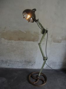 industrial standing lamp by jonque58 recycled metal