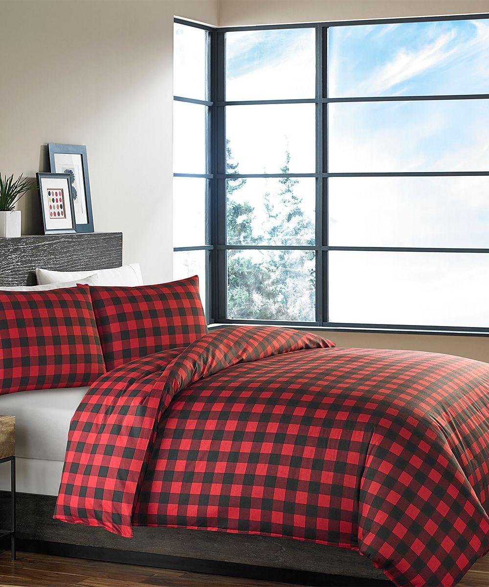 Red Mountain Plaid Duvet Sham Set Comforter Sets Duvet Comforter Sets Plaid Comforter