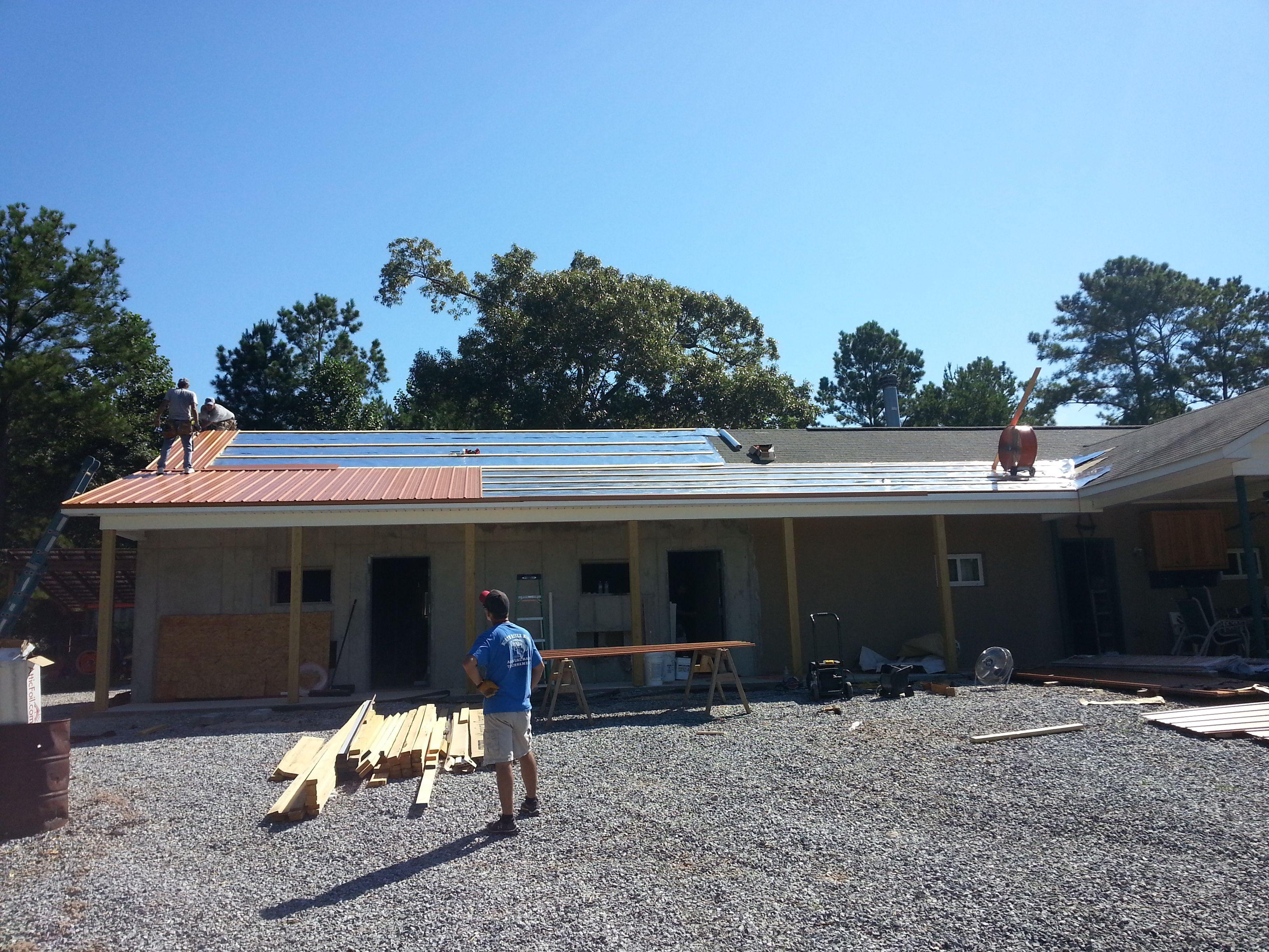 Standing Seam Metal Roof W Radiant Barrier Metal Roofing Systems Radiant Barrier Metal Roof