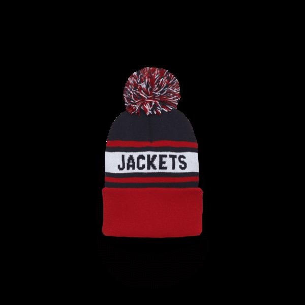 d59df0e1115 Jackets Knit In Pom Beanie Columbus Blue Jackets CBJ Hockey Winter Hat –  HOMAGE