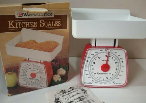 Vintage 1980/90s KITCHEN SCALES Waymaster Red/White