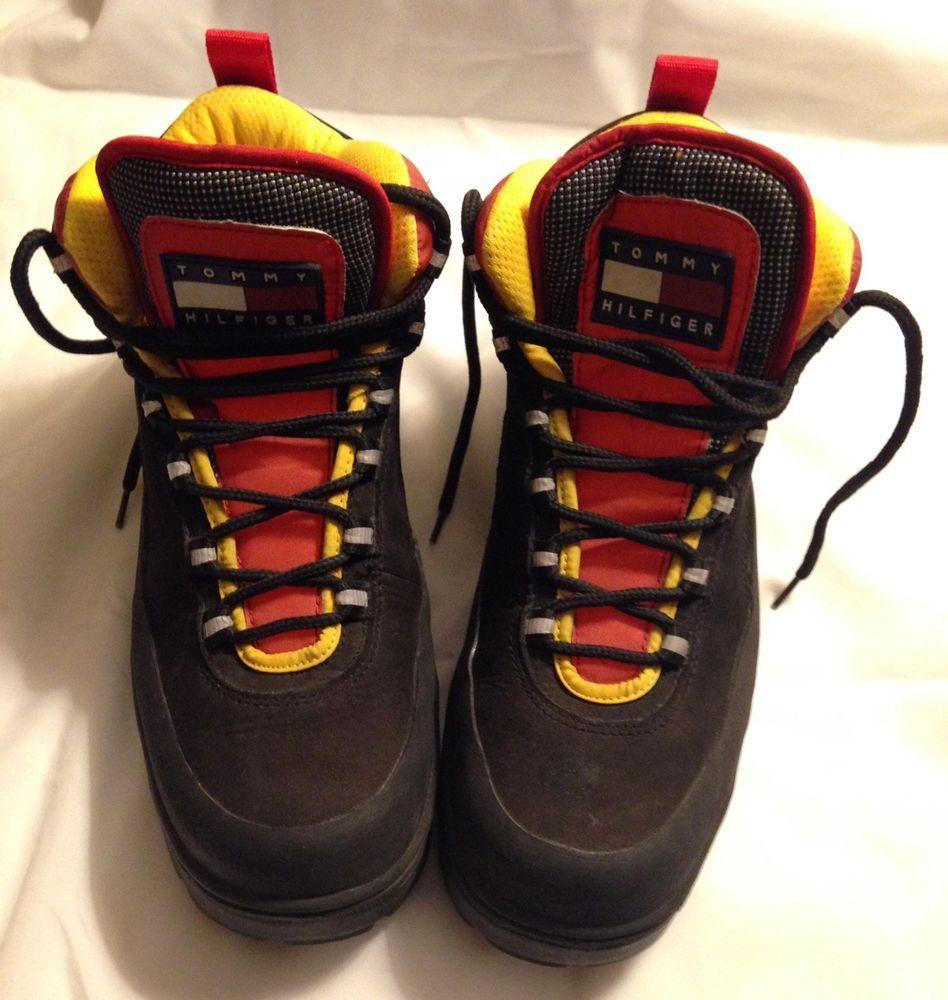 d99fcc73c Tommy Hilfiger M06022 Mens Combat Boots Black Gold Shoes Size 9M   TommyHilfiger  AnkleBoots