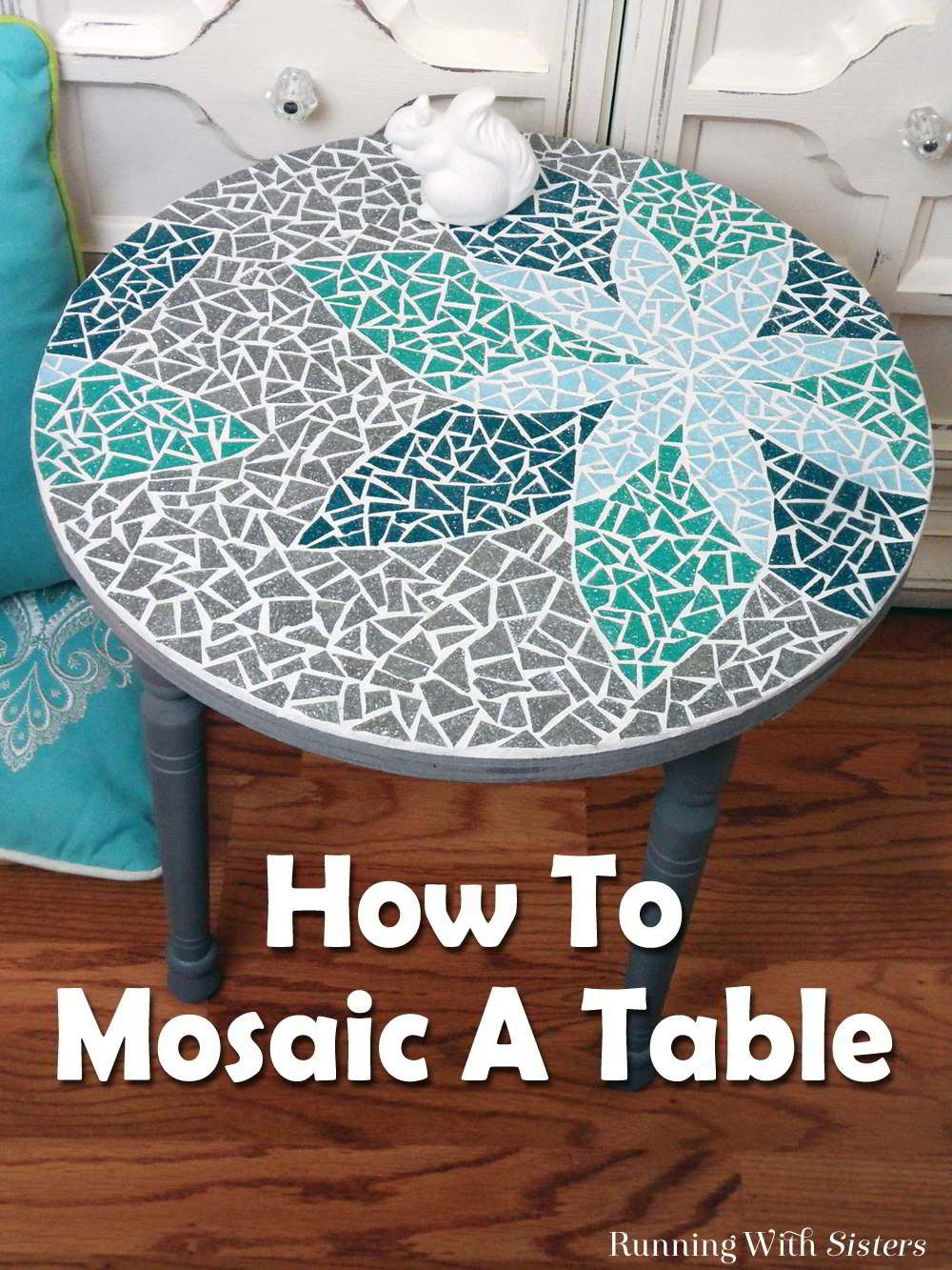 How To Mosaic A Table Grout Mosaics And Template