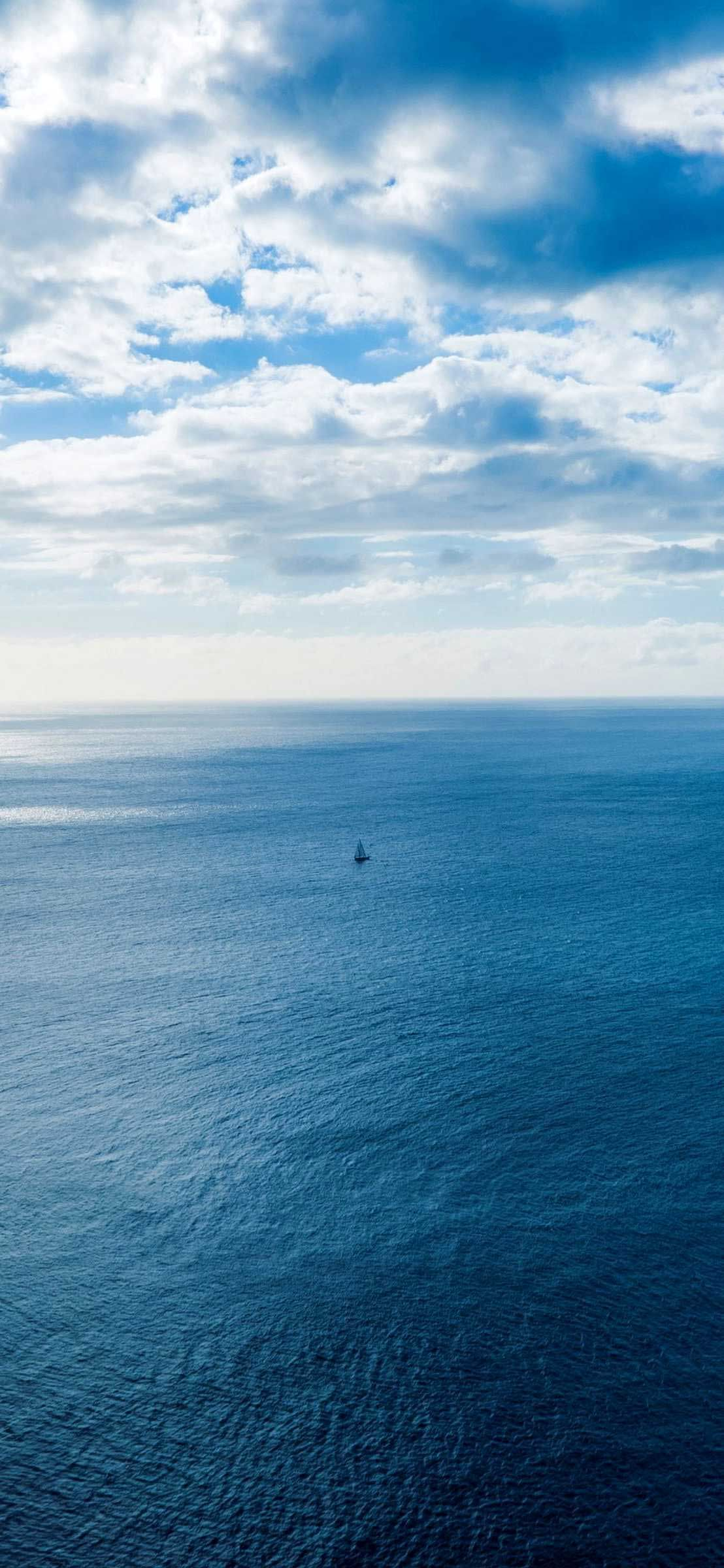 Iphone X Wallpapers Sea sky clouds horizon Hd in 2020