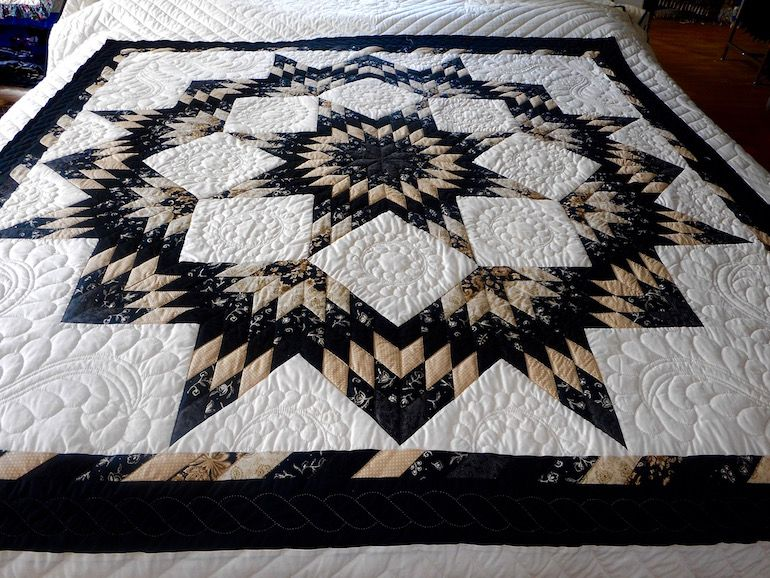 This Amish Quilt Patterns Is Called A Broken Star Created In