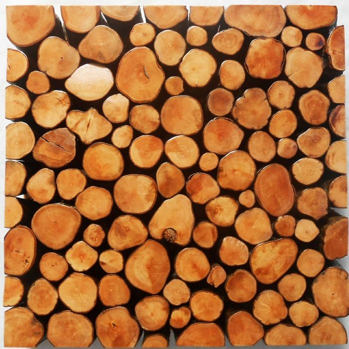 Decorative Wood Wall Tiles Aliexpress  Buy Original Rustic Wood Tile Mosaic Pattern