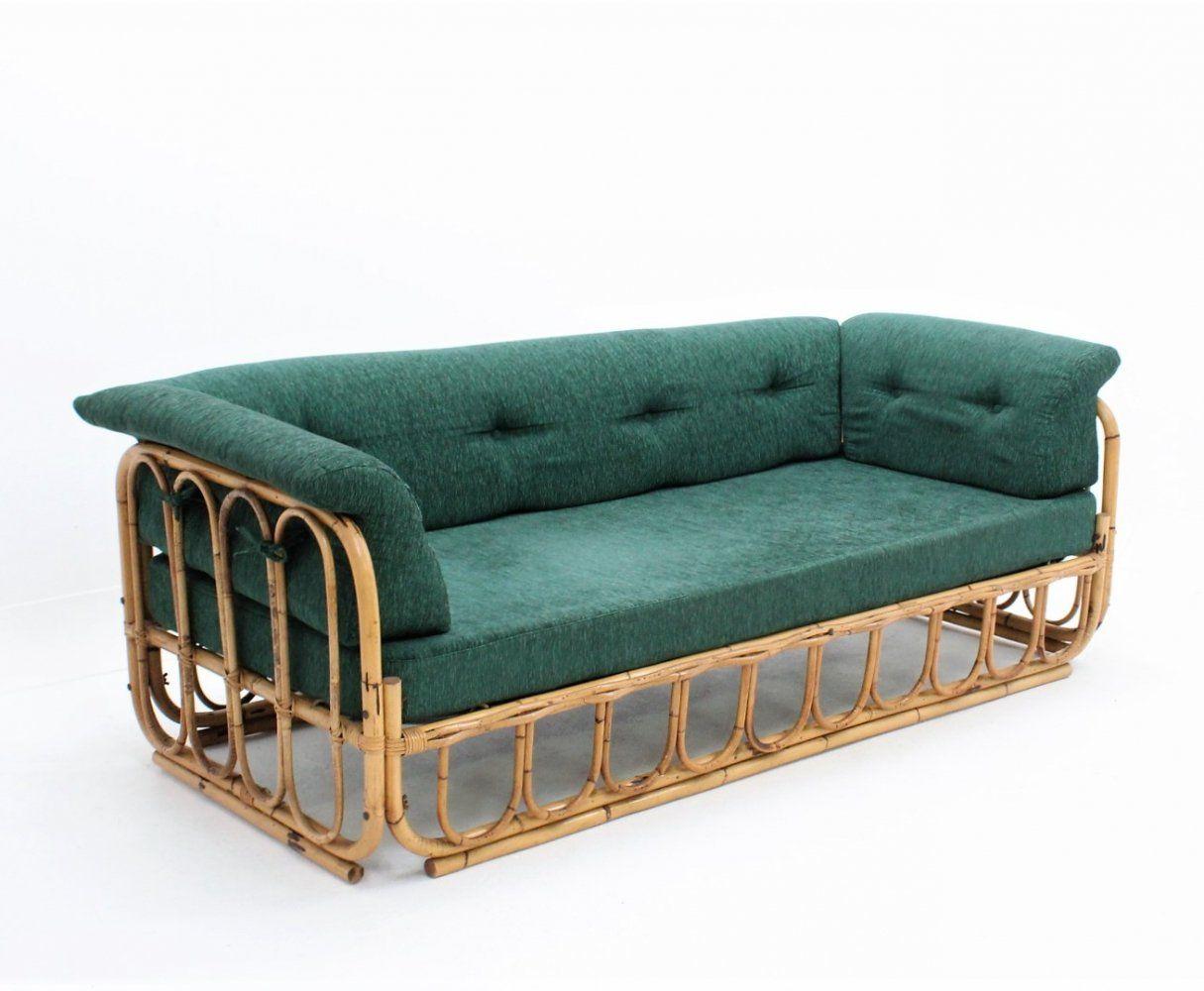 For sale Vintage rattan sofa / daybed by Bonacina, 1970s ...