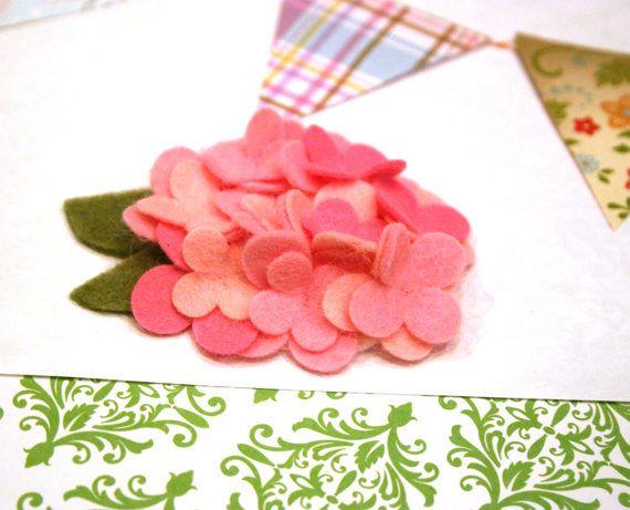 Hydrangea Wool Felt Flower / Your Choose Hair Piece by PocketBears,