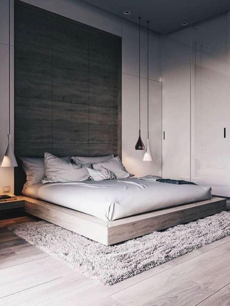 44 Atemberaubende minimalistische moderne Master-Schlafzimmer-Design besten Ideen