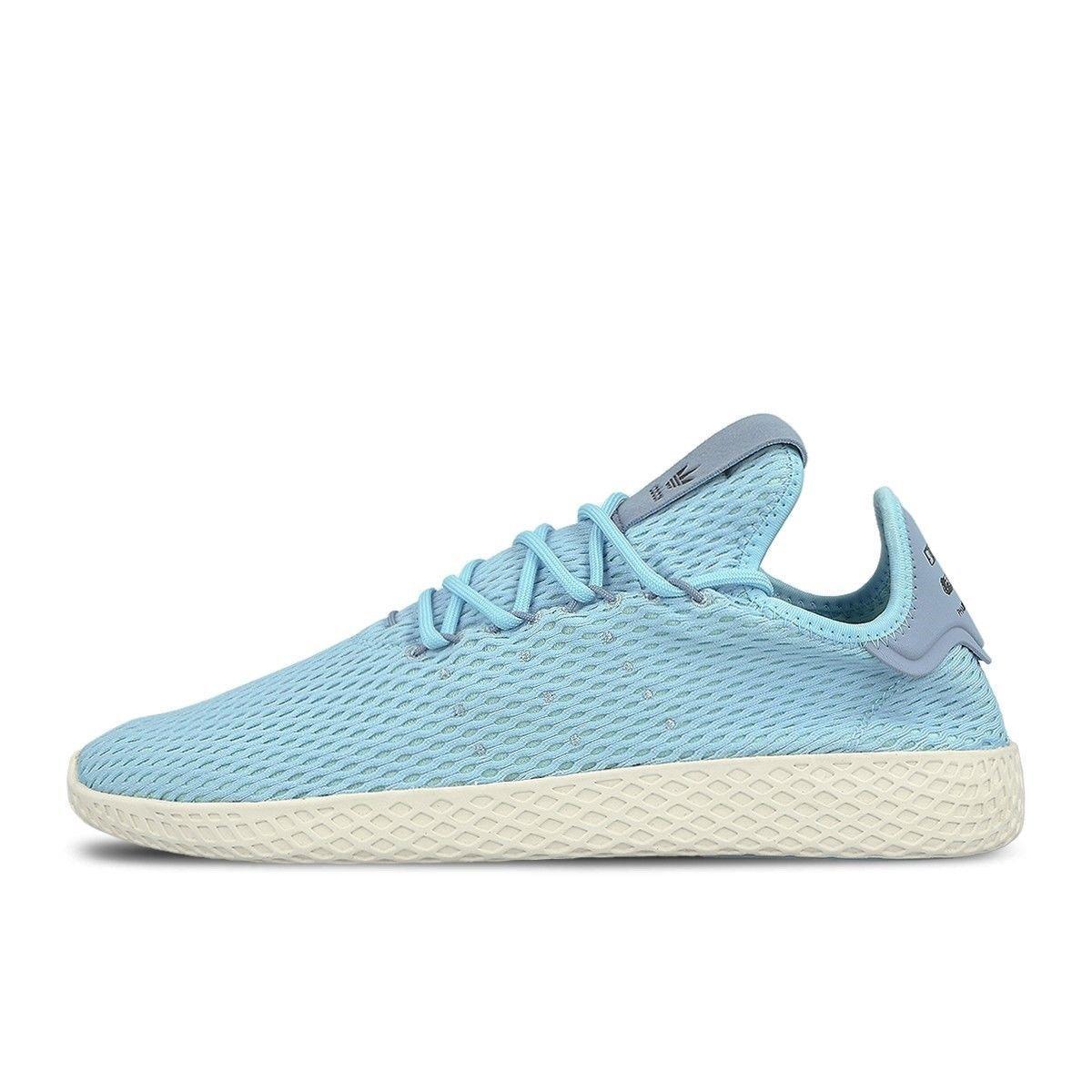 Men Adidas Pharrell Williams Tennis HU Ice Blue Tactile Blue CP9764 ... fe82a063a
