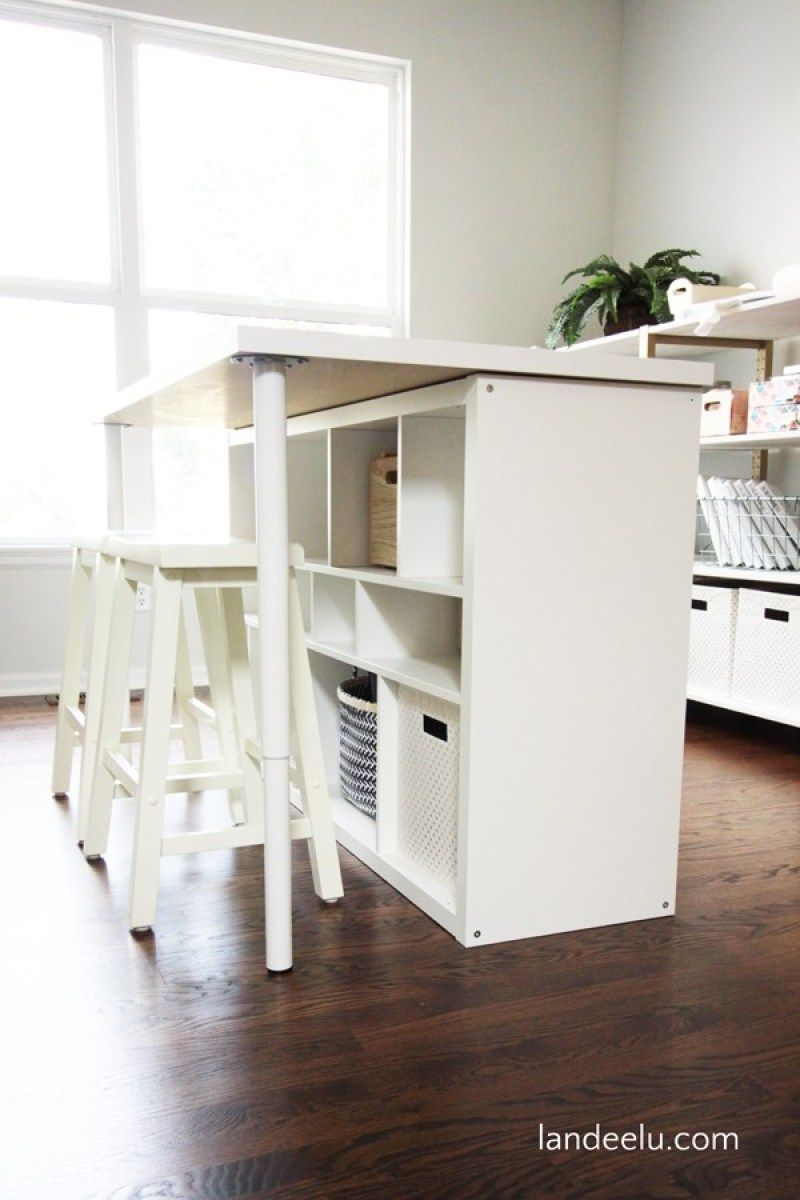 Diy Craft Room Werktafel 21 Genie Diy Ikea Kallax Hackt Om Je
